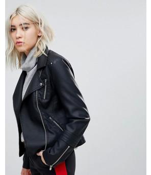 Only-Leather-Look-Biker-Jacket