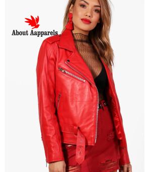 Sheep-Red-Leather-Biker-Jacket