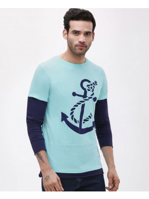 Anchor-Printed-Dual-Layer-T-Shirt