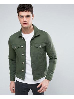 Denim-Jacket-In-Dark-Green