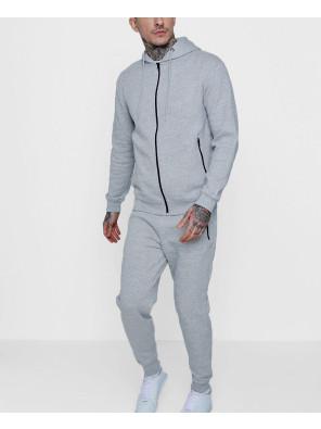 Grey-Skinny-Fit-Zipper-Through-Tracksuit