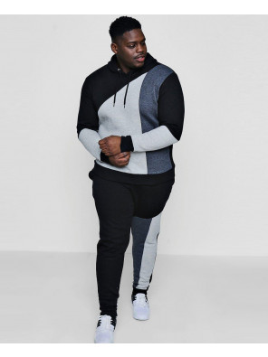 High-Quality-Custom-Big-And-Tall-Colour-Block-Hooded-Tracksuit
