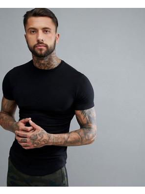 Men-Gym-Muscle-Fashion-T-Shirt-In-Black