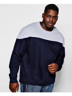 Men-Hot-Selling-Big-And-Tall-Colour-Block-Sweatshirt