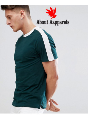 New-Look-Ringer-With-Sleeve-Stripe-In-Green-T-Shirt