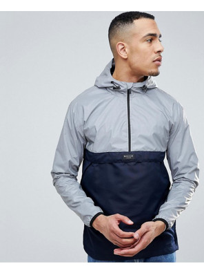 Overhead-Windbreaker-Jacket-In-Reflective-With-Navy-Panel-Exclusive-To-About-Apparels