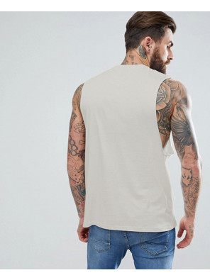 Relaxed-Vest-With-Dropped-Armhole-In-Beige