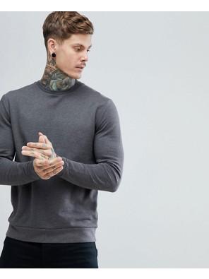 Sweatshirt-In-Charcoal-Marl