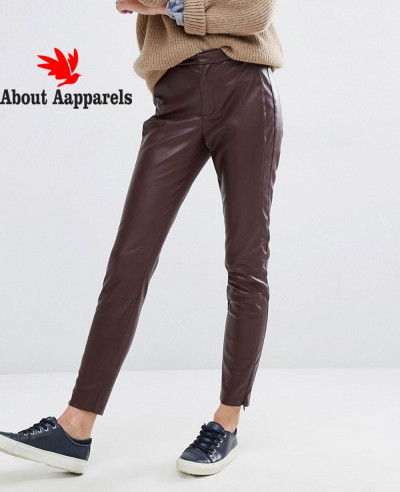 Best-Selling-Women-Leather-Burgundy-Pant