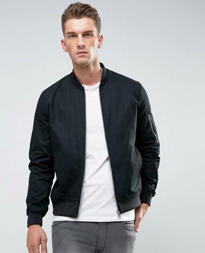 Bomber-Jacket-With-Sleeve-Zip-In-Black