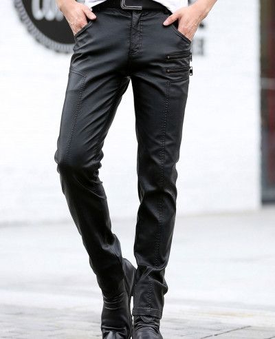 Brown-5-Pocket-Lambskin-Leather-Pants-for-Men