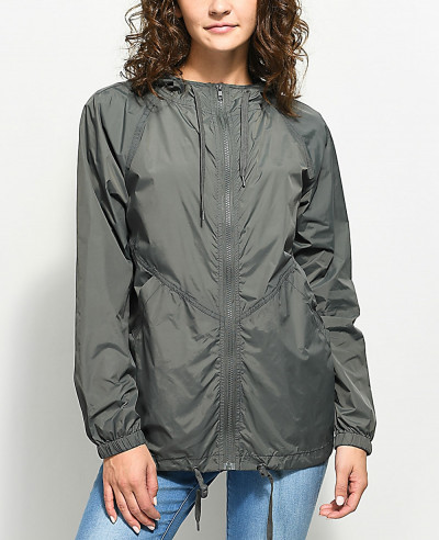 Charcoal-&-Black-Lining-Windbreaker-Jacket