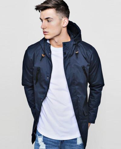 Contrast-Zipper-Cotton-Parka-Windbreaker-Jacket