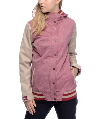High-Quality-Custom-Varsity-Burgundy-&-Khaki-Softshell-Jacket