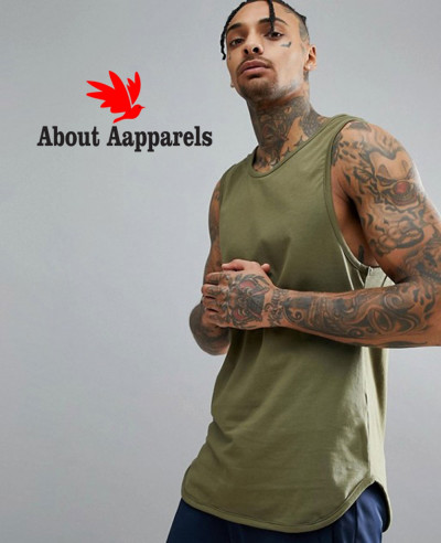 High-Quality-Men-Custom-Vest-In-Khaki-Tank-Top