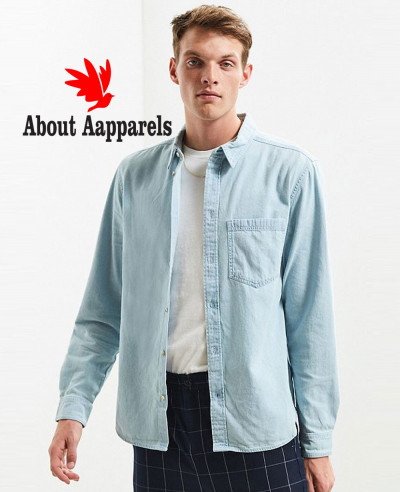 High-Quality-Men-Denim-Button-Down-Shirt