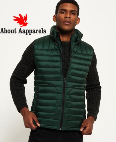 Hot-Selling-Men-Custom-Padded-Puffer-Double-Zipper-Vest-Gilt