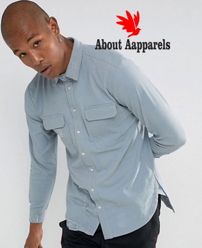 Hot-Selling-Men-Stylish-Denim-Shirt-In-Grey