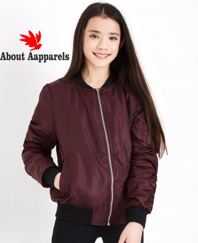 Hot-Selling-Burgundy-Satin-Bomber-Varsity-Jacket