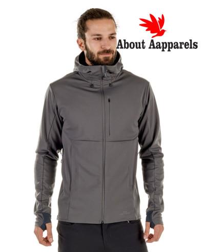 Hot-Selling-Men-Grey-Hooded-Softshell-Jacket