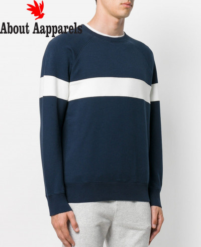 Men-Blue-Custom-Chest-Stripes-Sweatshirt