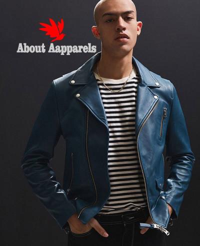 Men-Blue-High-Class-Biker-Real-Leather-Moto-Jacket