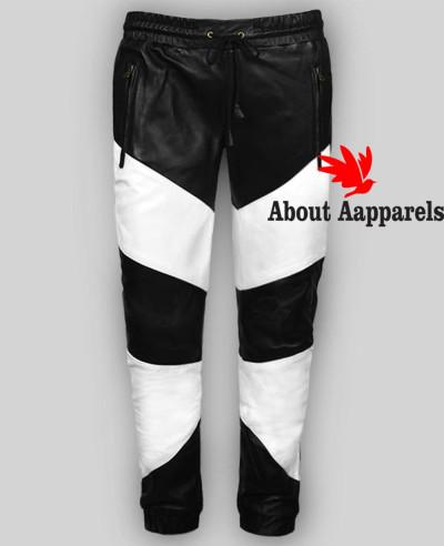 6d71dc88 Quick View · Men-Leather-Pants-Slim-Fit-Stylish-Color-Block- ...