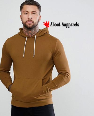 Men-Pullover-Dark-Yellow-Gym-Hoodie