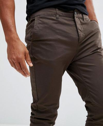 Men-Skinny-Chinos-In-Brown-Trouser