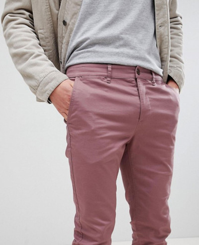 Men-Skinny-Chinos-In-Purple-Taupe-Trouser