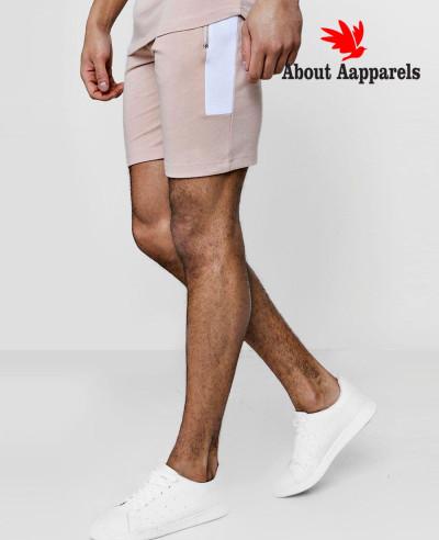 Men-Skinny-Fit-Contrast-Panelled-Shorts