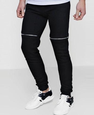 Men-Stylish-Skinny-Fit-Biker-Zipper-Sweatpant-Jogger