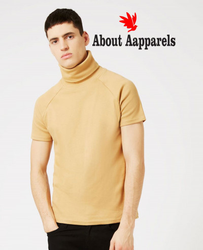 Men-Turtleneck-Short-Sleeve-Sweatshirt