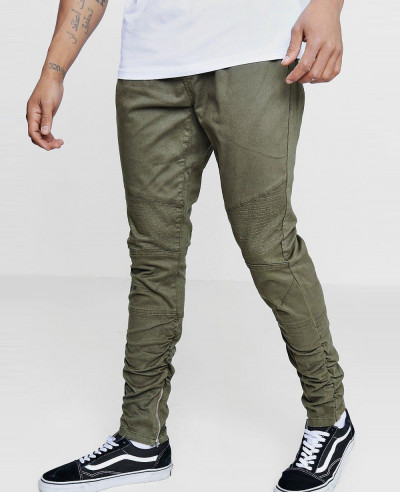 Men-Zipper-Ruched-Side-Biker-Panel-Trousers