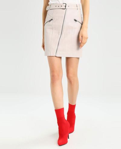 Most-Selling-Lambskin-Leather-Mini-Skirt