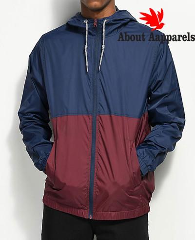 Navy-&-Burgundy-Windbreaker-Jacket