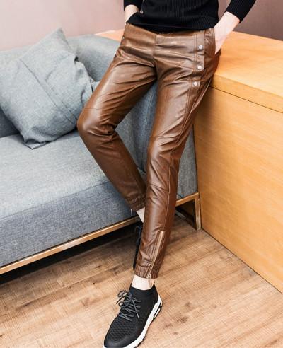 New-Fashion-Men-Pants-Skinny-Motorcycle-Slim-Fit