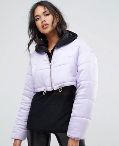 New-Fashion-Style-Women-Padded-Cropped-Jacket