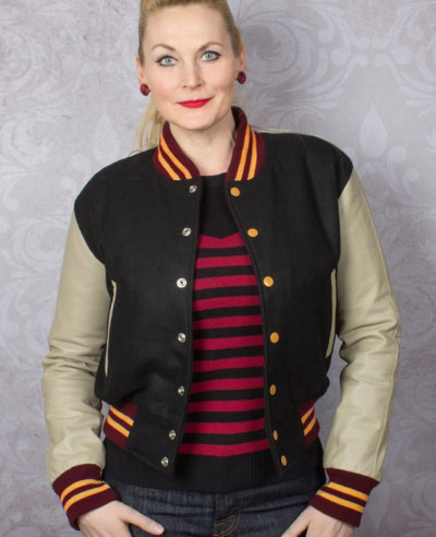 New-High-Quality-Women-Fashion-Leatherman-Leather-Baseball-Bomber-Varsity-Jacket