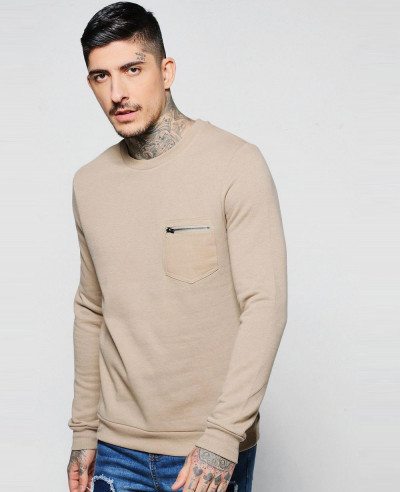 New-Hot-Selling-Men-Fashion-Pocket-Crew-Neck-Sweater-Sweatshirt