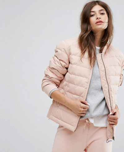 New-Hot-Selling-Women-Fashion-Quilted-Padded-Jacket-In-Pink