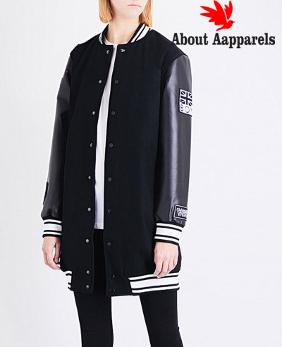 New-Hot-Selling-Women-Fashion-Wool-&-Leather-Sleeve-Letterman-Bomber-Varsity-Jacket-