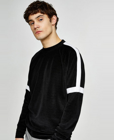 New-Look-Men-Black-Velour-Taping-Sweatshirt