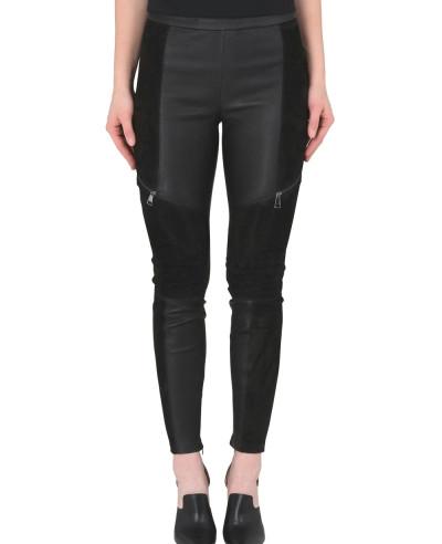 New-Look-Women-Biker-Leather-&-Suede-Legging