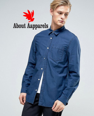 New-Stylish-Class-Denim-Shirt-BlueNew-Stylish-Class-Denim-Shirt-Blue