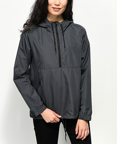 New-Stylish-Custom-Black-Windbreaker-Jacket