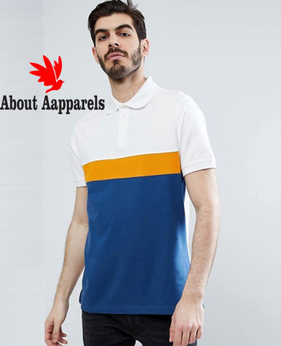 New-Stylish-Custom-Made-Gill-Panel-Polo-in-Blue