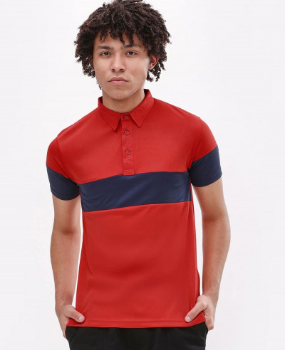 New-Stylish-Custom-Men-Chest-Sleeve-Panel-Polo-Shirt