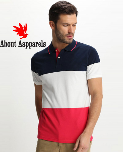 New-Stylish-Men-Colour-Block-Polo-shirt