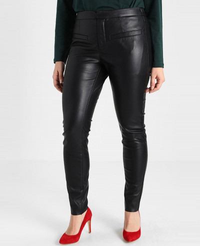 New-Women-Stretchy-Faux-Leather-Trousers-Skinny-High-Waist-Leggings-Pencil-Pant